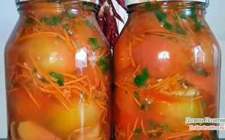 Закуска из помидоров с чесноком на зиму