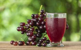 Натуральный виноградный сок польза и вред