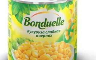 Кукуруза бондюэль сколько грамм в банке
