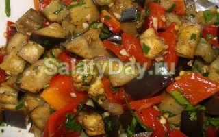 Хрустящий баклажан салат рецепт