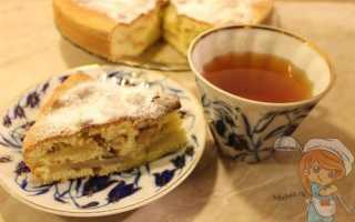 Рецепт шарлотки с яблоками без молока