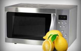 Отмыть микроволновку внутри лимонной кислотой