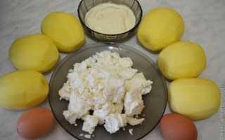 Запеканка картофельная с творогом в духовке рецепт