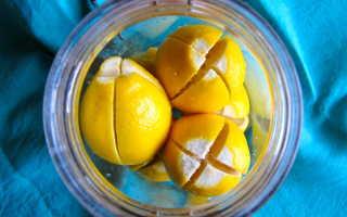 Лимон с солью на ночь