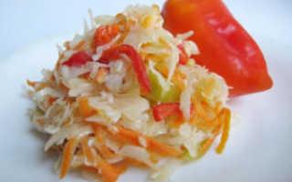 Суточная капуста с перцем и морковью
