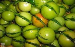 Соленые зеленые помидоры быстрого приготовления в кастрюле