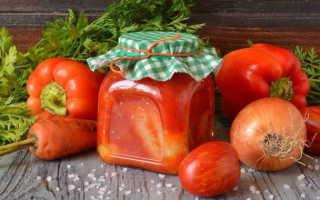 Болгарский перец с томатной пастой на зиму