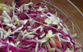 Как солить красную капусту на зиму
