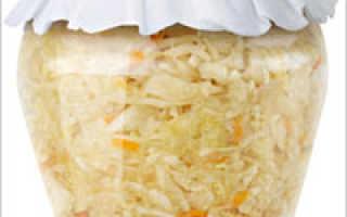Заготовки из свежей капусты на зиму рецепты