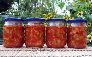 Кабачки в томате на зиму обалденный рецепт