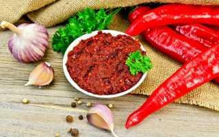 Аджика по абхазски традиционный рецепт без варки