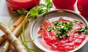 Аджика помидоры хрен чеснок на зиму