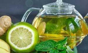 Напиток из корня имбиря и лимона