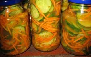 Огурцы с морковкой по корейски на зиму