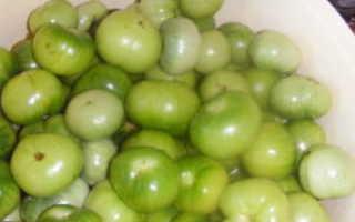 Рецепт зеленых помидор острых