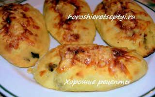Картофельные пирожки с капустой в духовке