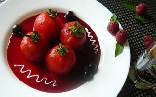 Десерт из помидоров сладкий