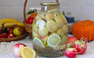 Компот из маринованных яблок на зиму
