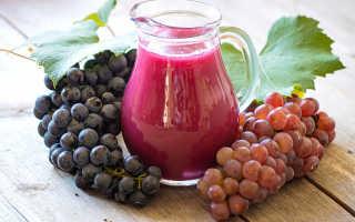 Как отжать сок из винограда