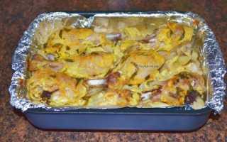 Картофель запеченный с цветной капустой в духовке