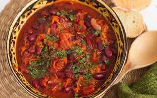 Рецепт красной фасоли в томатном соусе