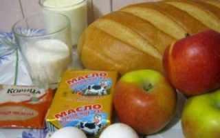 Шарлотка с батоном яблоками простой рецепт
