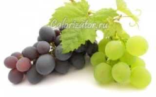 Сколько калорий в винограде зеленом с косточками