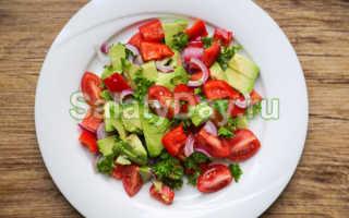 Салат из авокадо с томатами