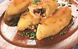 Картофельные зразы с грибами видео рецепт