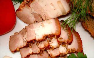Как приготовить вкусное сало в луковой шелухе