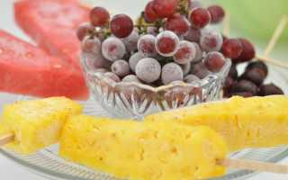 Заморозка винограда на зиму в морозилке