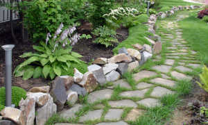 Бордюры для клумб из камня