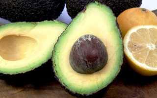 Как выглядит спелый авокадо в разрезе фото