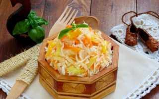 Капуста салатная с болгарским перцем и морковью