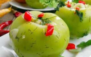 Засолка зелёных помидоров в ведре горячим способом