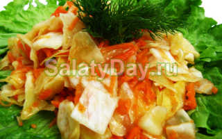Капуста морковь огурец корейский салат