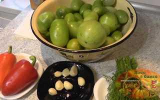 Зеленые помидоры на зиму квашеные в банках