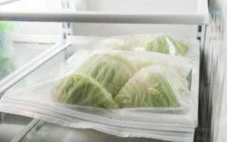 Можно ли заморозить капусту в морозильнике
