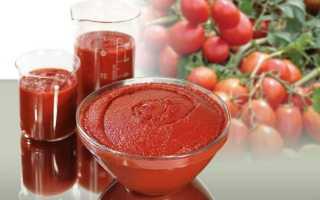 Протертые помидоры с чесноком на зиму