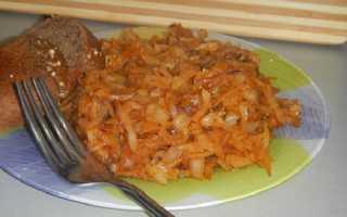 Как приготовить вкусную тушеную капусту без мяса