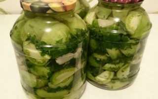 Салат из зеленых помидор видео рецепты