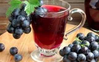 Компот из винограда в домашних условиях простой