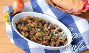 Жарить грибы с луком рецепт с фото