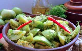 Салат из соленых зеленых помидоров рецепт