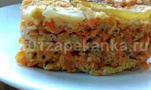 Запеканка из яблок и морковки