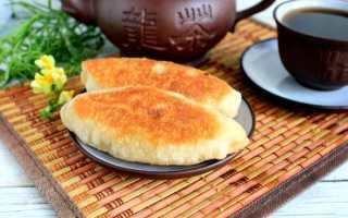 Пирожки с тушеной капустой жареные