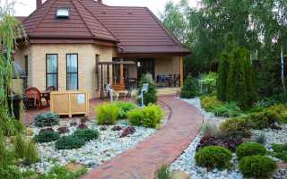 Ландшафтный дизайн частного двора 6 соток