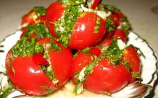 Красные помидоры по корейски на зиму