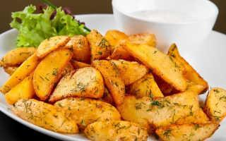Картофель на листе в духовке