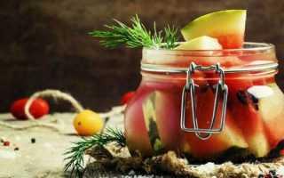 Соленые арбузы в банках на зиму вкусные